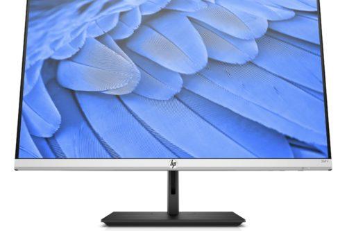 HP-skjermen kan både roteres, heves og senkes.
